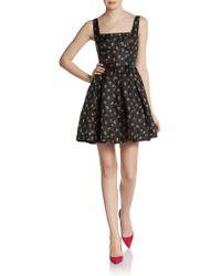 Jill Jill Stuart Floral-Print Silk Dress - Lyst