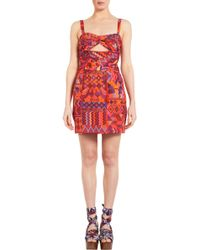 Mara Hoffman Ruched Keyhole Party Dress - Lyst