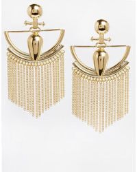 Asos Gold Decadence Earrings - Lyst