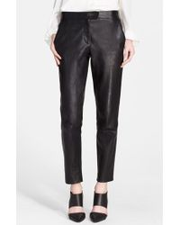 Tamara Mellon Leather Cigarette Pants - Lyst