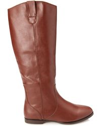 Forever 21 Faux Leather Riding Boots - Lyst