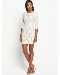 River Island Daisy Sparkle Bodycon Dress - Lyst