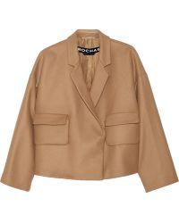 Rochas Oversized Wool-Blend Jacket - Lyst