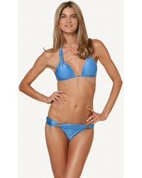 ViX Solid Malibu Bia Tube Top blue - Lyst