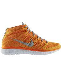 Nike Free Flyknit Chukka Total Orange - Lyst