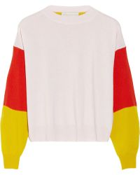 Stella McCartney Color-Block Cashmere Sweater - Lyst