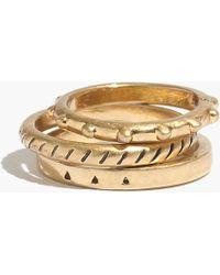 Madewell Openpoint Midi Ring Set - Lyst
