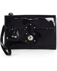 Ralph Lauren Collection - Ricky Patent Leather Clutch - Lyst
