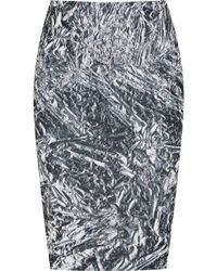 McQ by Alexander McQueen Printed Stretch-Cotton Jersey Pencil Skirt - Lyst