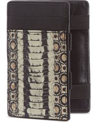 Dries Van Noten - Faux Snake Leather Card Holder - For Men - Lyst