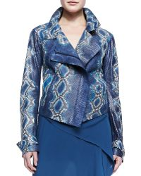 Donna Karan New York Handpainted Python Jacket - Lyst