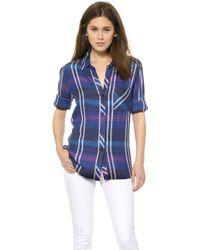 Rails Hunter Button Down Shirt   - Lyst
