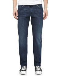 7 For All Mankind Slimfit Darkwash Jeans - Lyst