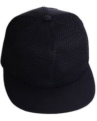 DRKSHDW by Rick Owens Cotton and Leather Hat - Lyst
