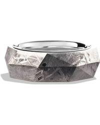 David Yurman - Band Ring With Meteorite - Lyst