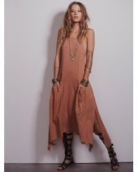 Free People Softly Softly Apron Dress - Lyst