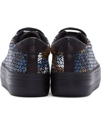 Carven Black Sequinned No Name Edition Sneakers - Lyst