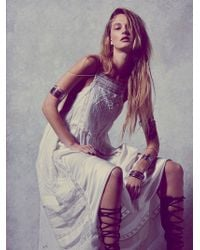 Free People Womens Gemma'S Limited Edition White Dress - Lyst