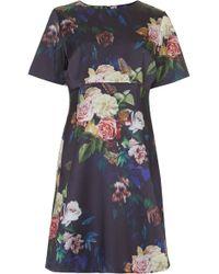 Topshop Maternity Blur Rose Print Satin A-Line Dress - Lyst