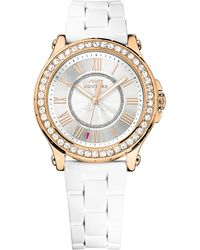 Juicy Couture - Ladies Pedigree Rose Gold Plated And Crystal Watch - Lyst