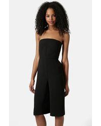 Topshop Women'S Culotte Jumpsuit - Lyst