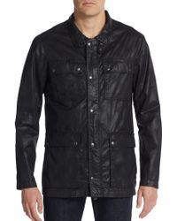 John Varvatos Cotton Field Jacket black - Lyst