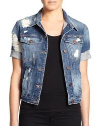 Genetic Denim Blondie Distressed Denim Jacket - Lyst