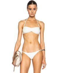 Solid & Striped The Chloe Bikini Polyamide-blend Top - Lyst