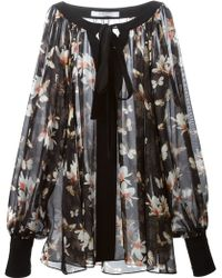 Givenchy Sheer Floral Blouse - Lyst
