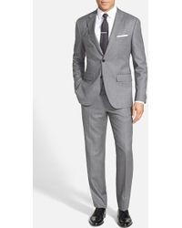 Boss by Hugo Boss Men'S Big & Tall 'Johnstons/Lenon' Trim Fit Wool Suit - Lyst