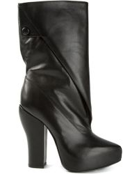 Carven Concealed Wedge Chunky Heel Boots - Lyst