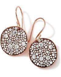 Ippolita 18K Rose Gold Stardust Flower Diamond Drop Earrings - Lyst