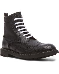 Givenchy Men'S Runway Leather Commando Boots - Lyst