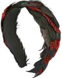 Nana' - 40mm Cool Dots Feathered Headband - Lyst