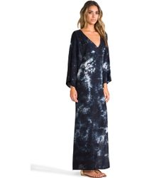 Blu Moon - Open Back Kimono Dress in Navy - Lyst