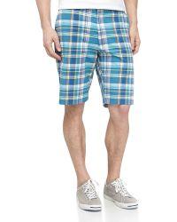 Bobby Jones Relaxed Plaid Golf Shorts - Lyst
