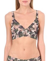 Hanky Panky Hunter Crossover Bralette Taupe Green - Lyst