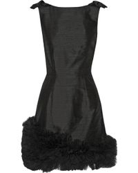 House Of Holland Georgina Embellished Silk-shantung Mini Dress - Lyst
