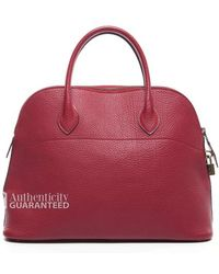 Hermes Pre-Owned Vintage Red Rouge Togo Bolide 35Cm Bag - Lyst