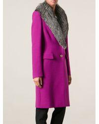 Emilio Pucci - Lambs Fur Collar Coat - Lyst