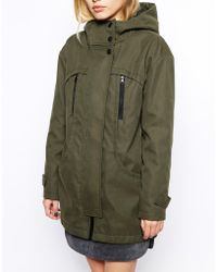 Asos Oversized Cocoon Parka - Lyst