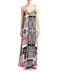 Felicite Printed Racerback Maxi Dress - Lyst