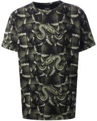 Marcelo Burlon County Of Milan Snake Print Tshirt - Lyst