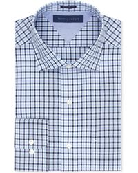 Tommy Hilfiger Blue Multi-check Dress Shirt - Lyst