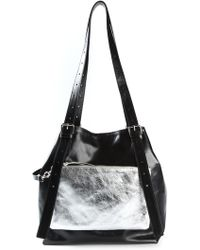 Mm6 By Maison Martin Margiela Buckled Bucket Tote - Lyst