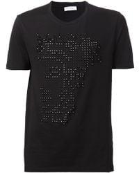 Versace Studded Logo T-Shirt - Lyst