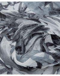 Nick Bronson - Black Bamboo Print Linen Scarf - Lyst