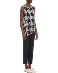 Stella McCartney Houndstooth Jersey Sleeveless Tshirt - Lyst