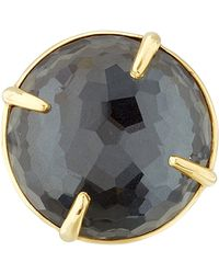 Ippolita - Gold Black Hematite Big Rock Candy Gelato Ring - Lyst