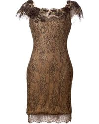 Notte by Marchesa Lace Fitted Dress - Lyst